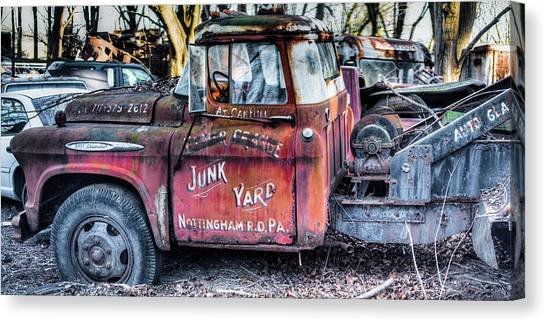 A Beautiful Rusty Old Tow Truck Canvas Print