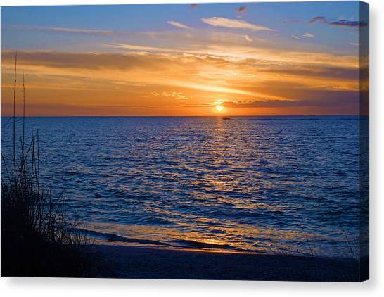A Beautiful Sunset In Naples, Fl Canvas Print