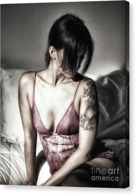 A Bedroom Portrait  Canvas Print by ManDig Studios