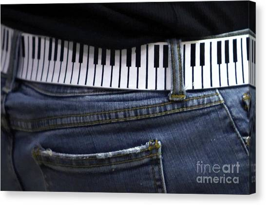 Synthesizers Canvas Print - A Belt Of Cords by Alan Look