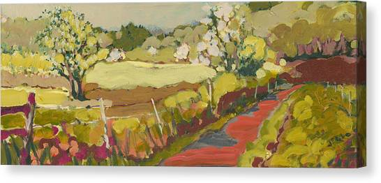 Plein Air Canvas Print - A Bend In The Road by Jennifer Lommers