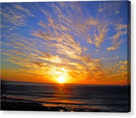 Blue Sky Canvas Print - A Better Tomorrow by Michael Durst