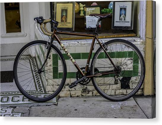 A Bicycle In The French Quarter, New Orleans, Louisiana Canvas Print