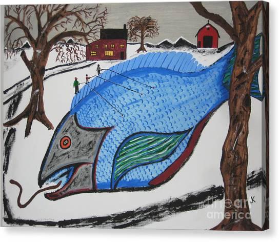 Canvas Print - A Big Fish Tale by Jeffrey Koss
