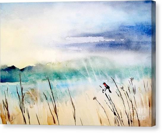 A Bird In Swamp Canvas Print