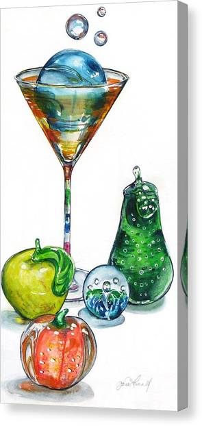 A Bit Of The Bubbly Canvas Print by Jane Loveall