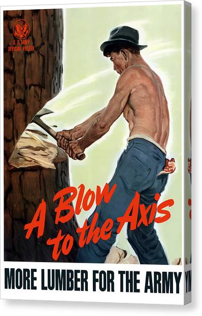 Conservation Canvas Print - A Blow To The Axis - Ww2 by War Is Hell Store