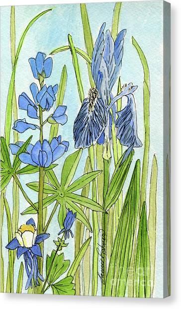 A Blue Garden Canvas Print