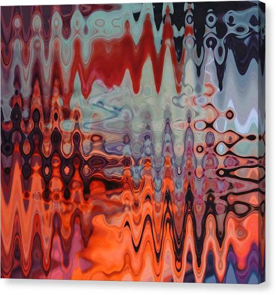 A Blur Of Colors Canvas Print