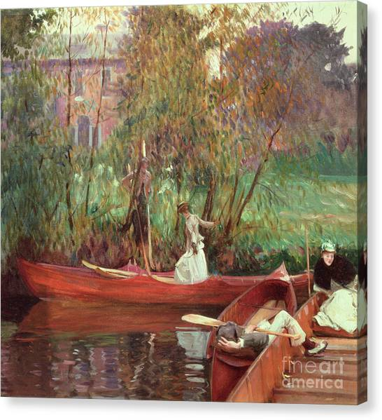 John Boats Canvas Print - A Boating Party  by John Singer Sargent