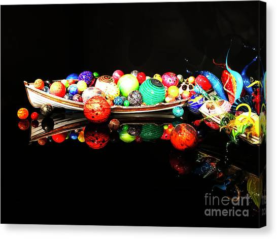A Boatload Of Chihuli Canvas Print