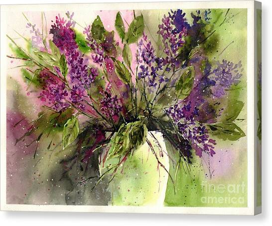 Wyoming Canvas Print - A Bouquet Of May-lilacs by Suzann's Art