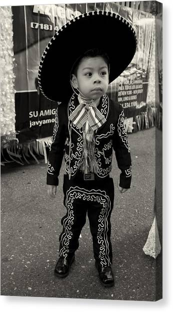 A Boy And His Sombrero 2 Canvas Print