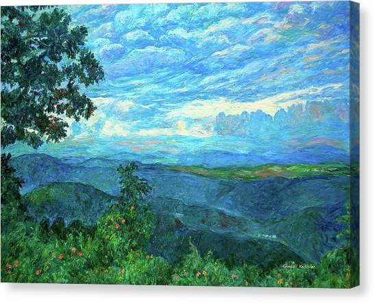 Blue Ridge Parkway Canvas Print - A Break In The Clouds by Kendall Kessler