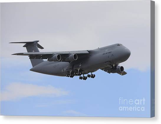 National Guard Canvas Print - A C-5 Galaxy In Flight Over Nevada by Remo Guidi