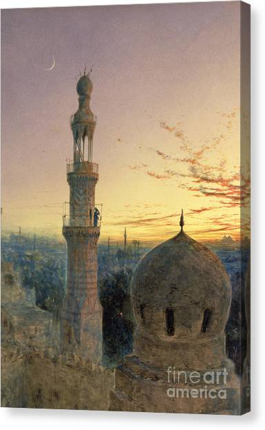 Muslim Canvas Print - A Call To Prayer by Henry Stanier