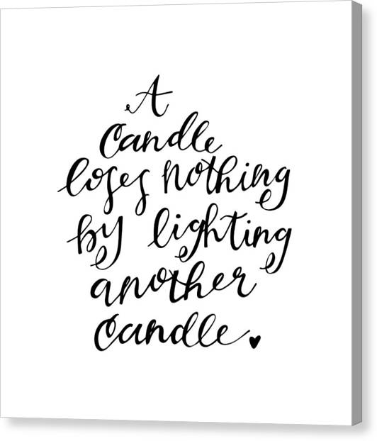 Canvas Print featuring the drawing A Candle by Nancy Ingersoll