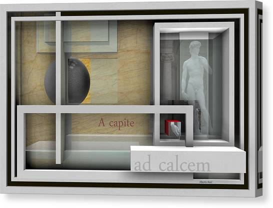 A Capite Ad Calcem Canvas Print