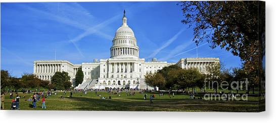 A Capitol View Canvas Print