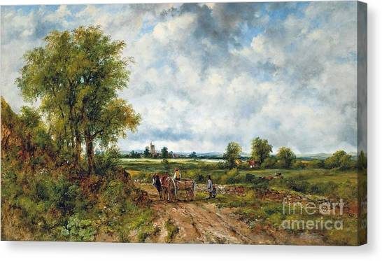 Dedham Canvas Print - A Cart On A Track by MotionAge Designs