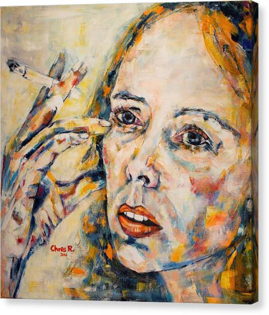 Joni Mitchell Canvas Print - A Case Of You by Christel Roelandt