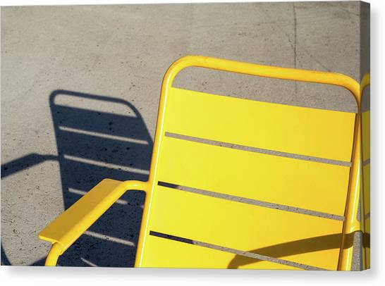 A Chair And Its Shadow Canvas Print