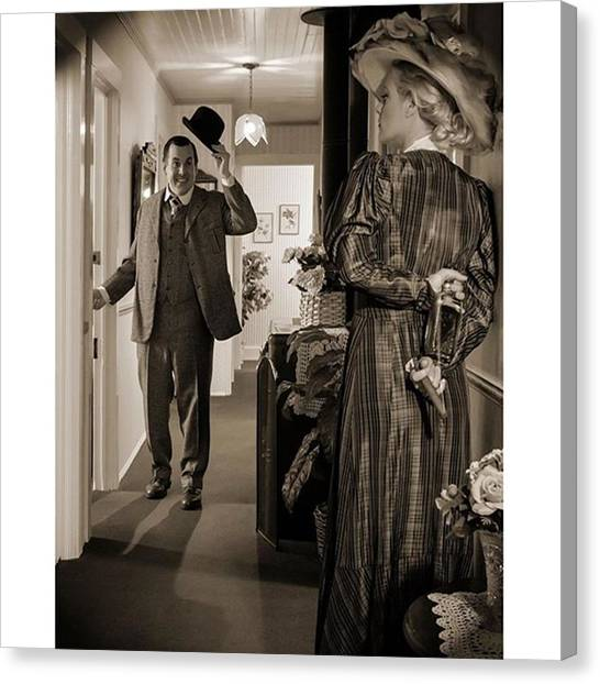 Los Angeles Canvas Print - A Chance Meeting At The Julian Gold by Sad Hill - Bizarre Los Angeles Archive