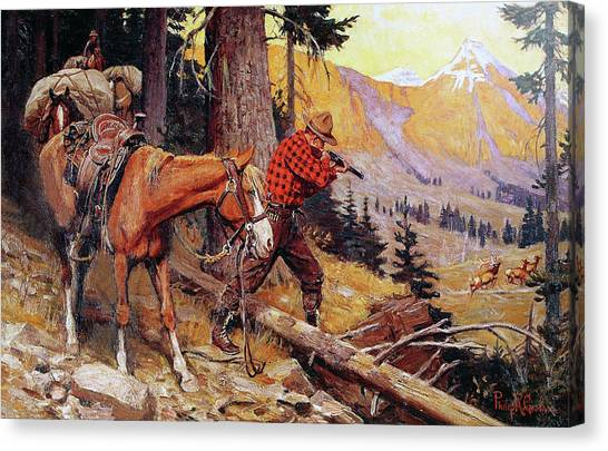 A Chance On The Trail Canvas Print
