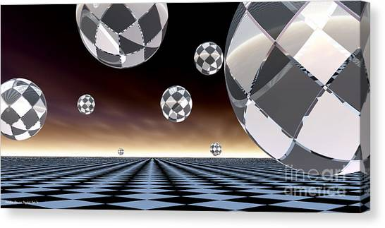 A Checkered Past Canvas Print by Sandra Bauser Digital Art