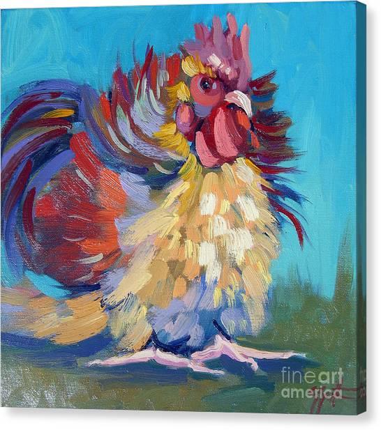 A Chicken Day Canvas Print