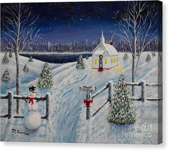 A Christmas Eve Canvas Print