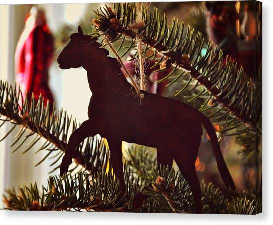 A Christmas Trot Canvas Print by JAMART Photography