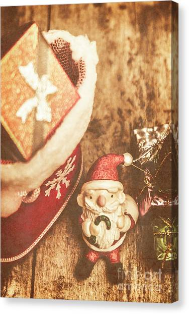 Santa Canvas Print - A Clause For A Merry Christmas  by Jorgo Photography - Wall Art Gallery