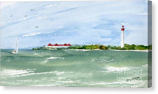 A Clear Day At Cape May Point  Canvas Print