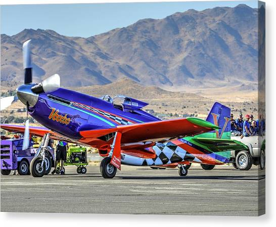 A Closer Look At Voodoo Engine Start Sundays Unlimited Gold Race Canvas Print