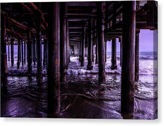 A Cloudy Day Under The Pier Canvas Print