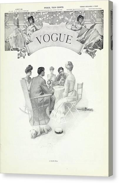 A Club Tea Canvas Print