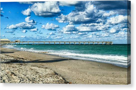 A Cold Day In Florida 62f Canvas Print by Dieter Lesche