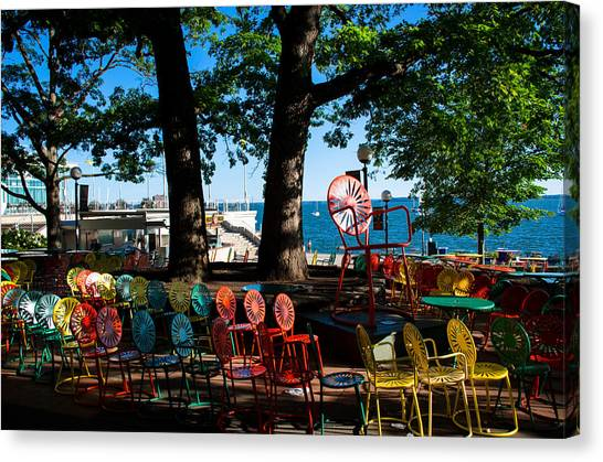 University Of Wisconsin - Madison Canvas Print - A Collection Of Chairs by Ron Miller