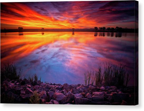 A Colorado Birthday Sunrise Canvas Print