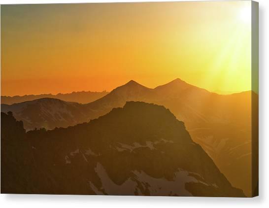 A Colorado Ending Canvas Print