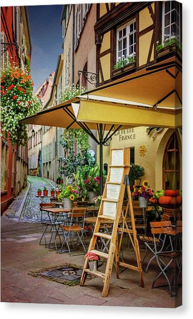 European City Canvas Print - A Colorful Corner Of Strasbourg France by Carol Japp
