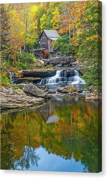 A Colorful Fall Day In Wva Canvas Print