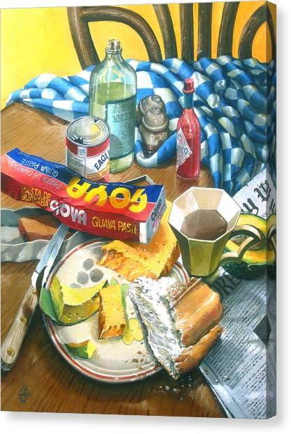 A Conch Breakfast Canvas Print