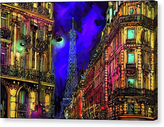 A Corner In Paris Canvas Print