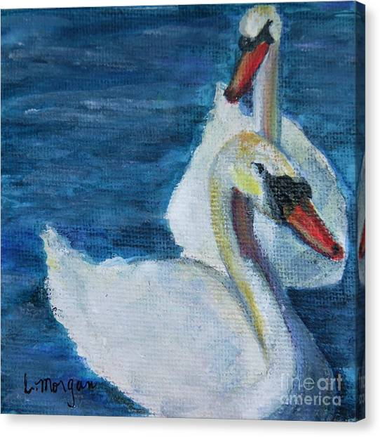 A Couple Of Swans Canvas Print