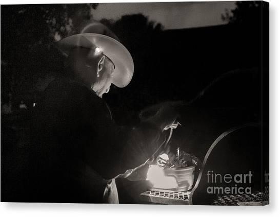 A Cowboys Dinner Canvas Print