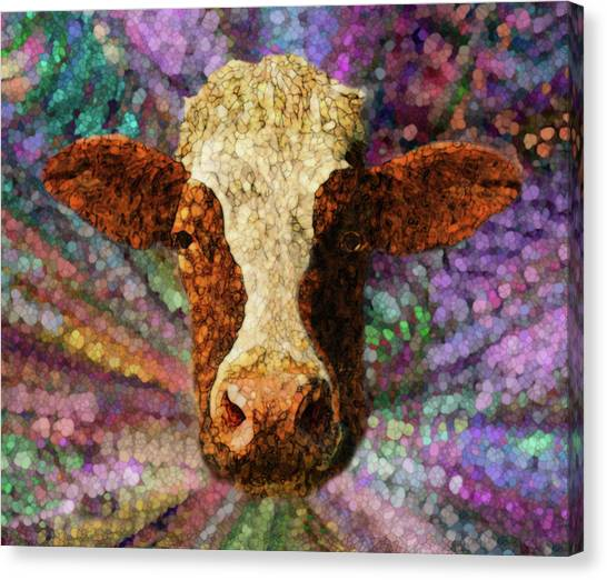 Installation Art Canvas Print - A Cows World by Jack Zulli