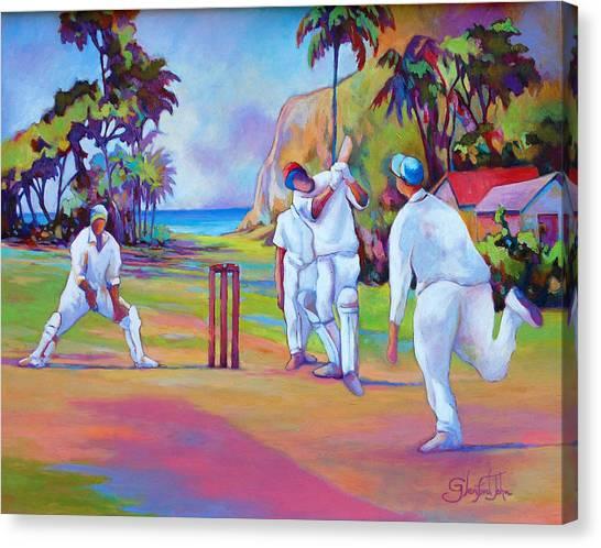A Cricket Game Canvas Print