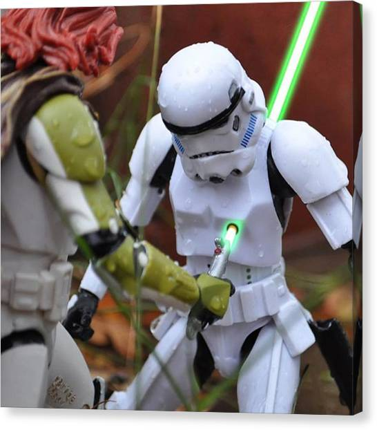 Stormtrooper Canvas Print - A Crop Of A Pic From A Few Weeks Ago by Brandon Wong